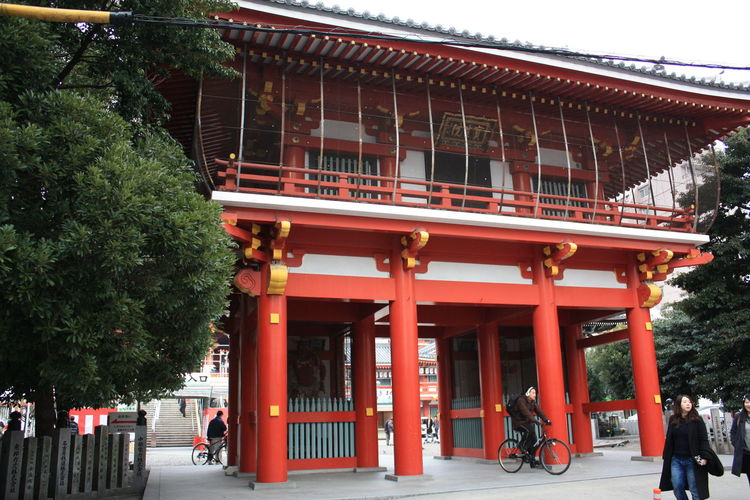 Japanese Architecture Nagoya Osu Kannon Temple Osu Shopping Arcade
