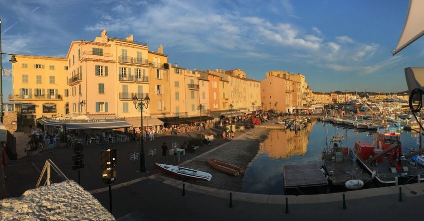 EyeEm Selects ShotOnIphone StTropez France Architecture Building Exterior Sky Built Structure Cloud - Sky Outdoors City Travel Destinations Nautical Vessel Day No People Cityscape Lasardina Southoffrance Frenchriviera summer is perfect time to be in south of France. Your Ticket To Europe