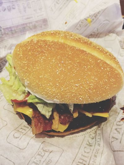Yummy Hamburger Beef Eating