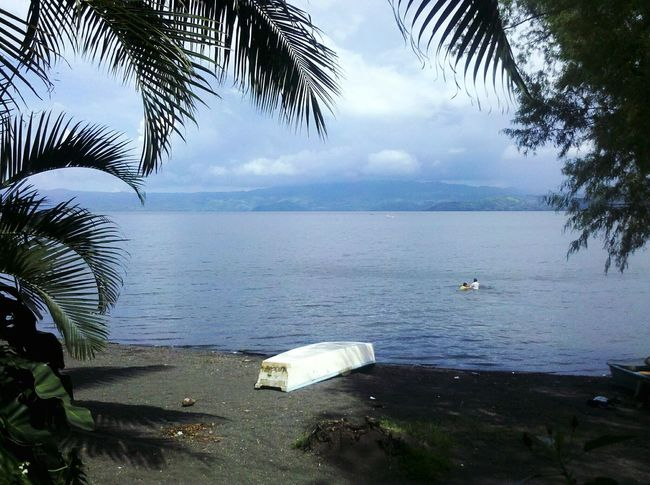 Tranquil Scene Scenics Cloud - Sky Tropical Climate Tranquility Cloud Beauty In Nature Lagoon Catemaco Shadow Mobile Photography Taking Photos Old Phone Photo Personal Perspective Landscapes Great Outdoors Landscape Outdoors