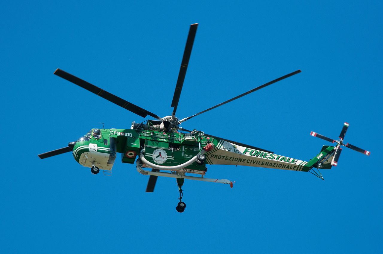 Air Carabinieri Elicottero Erickson Forestale Incendio Polizia Sikorsky Soccorso Vigili Del Fuoco