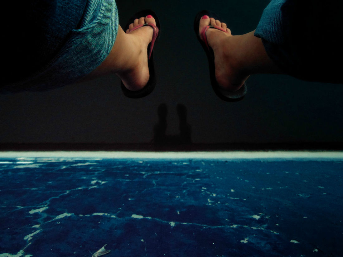 Water Reflection Shadow Feet Nature My Views Blue Abstract Pivotal Ideas Black Different Perspective Ledge A Bird's Eye View