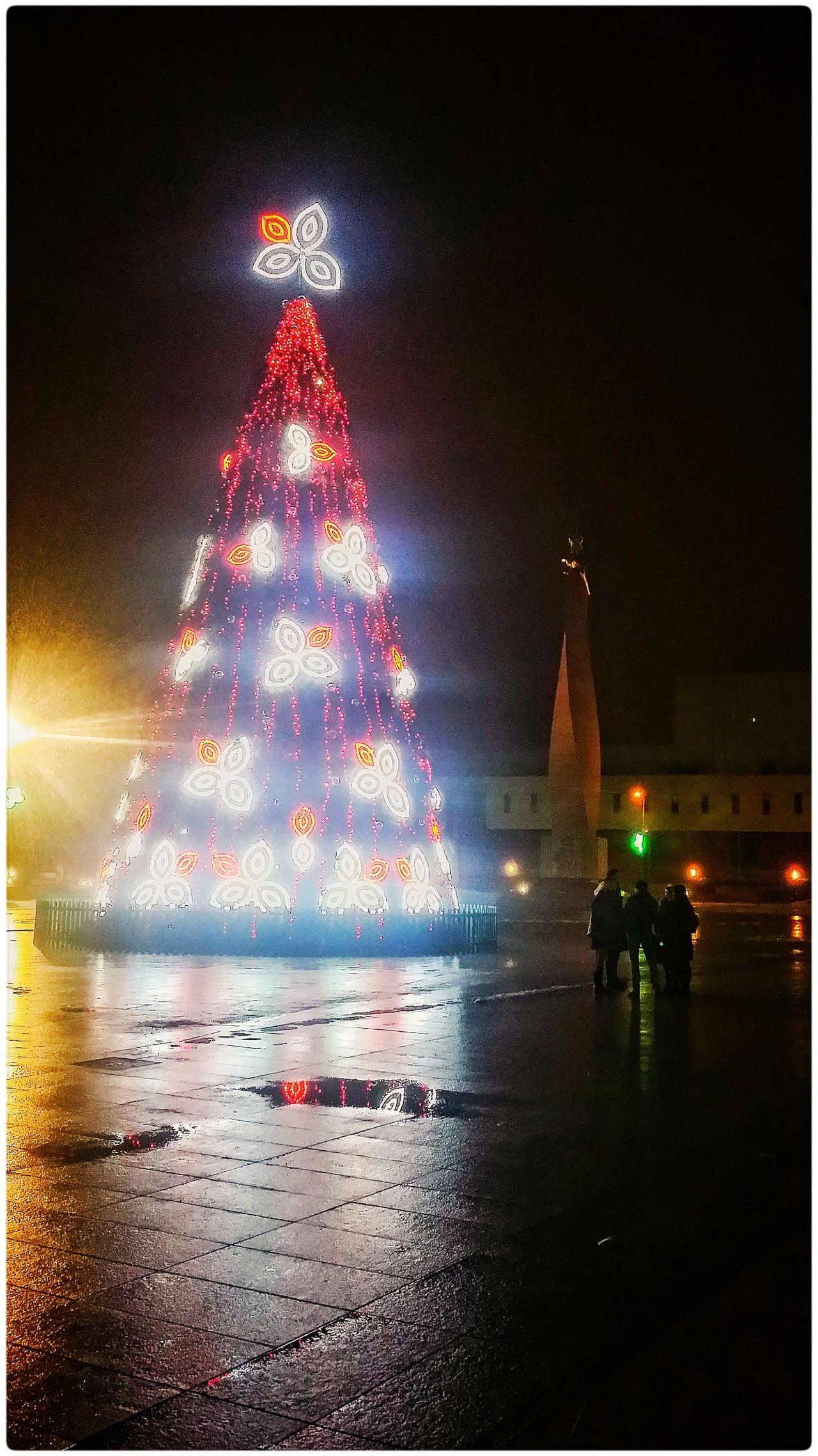 Illuminated Night Christmas Christmas Tree Outdoors No People City Celebration Cityscape Travel Destinations