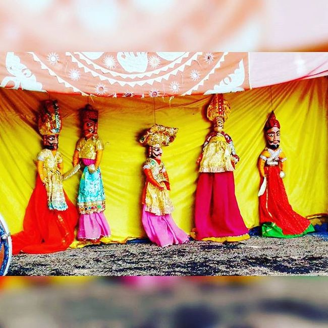 Astonished to know that even puppets are better dancer than Salman Khan.... Indore Moot... Puppetshow Rajasthanistyle Nakhralidhani Toomuchfun
