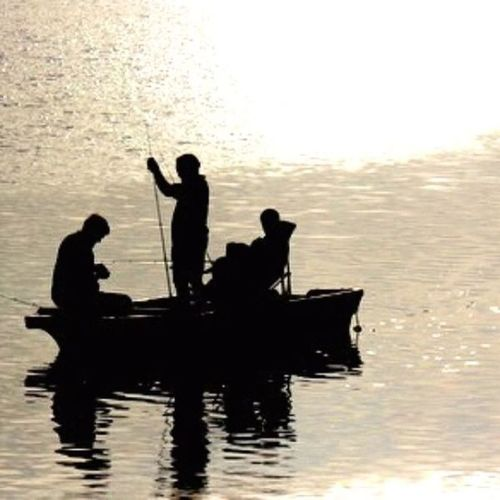 """""""After dark """" .....Fishing! Silhouette"""