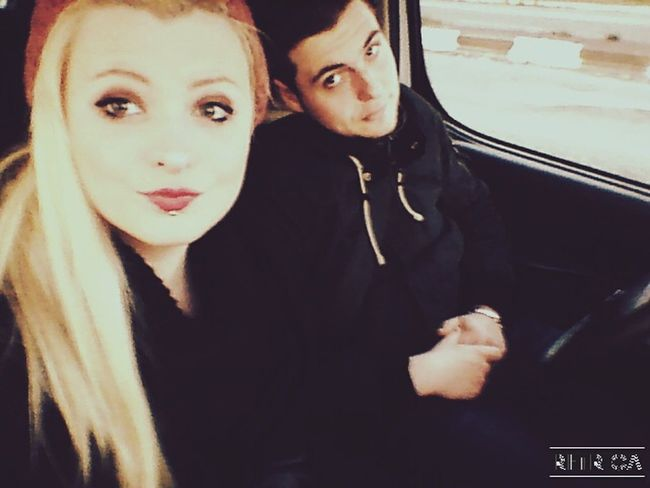 My love in the car , together Boy Boyfriend Girl Blonde Girl Blonde Hair Taking Photos Hi! Love Couple