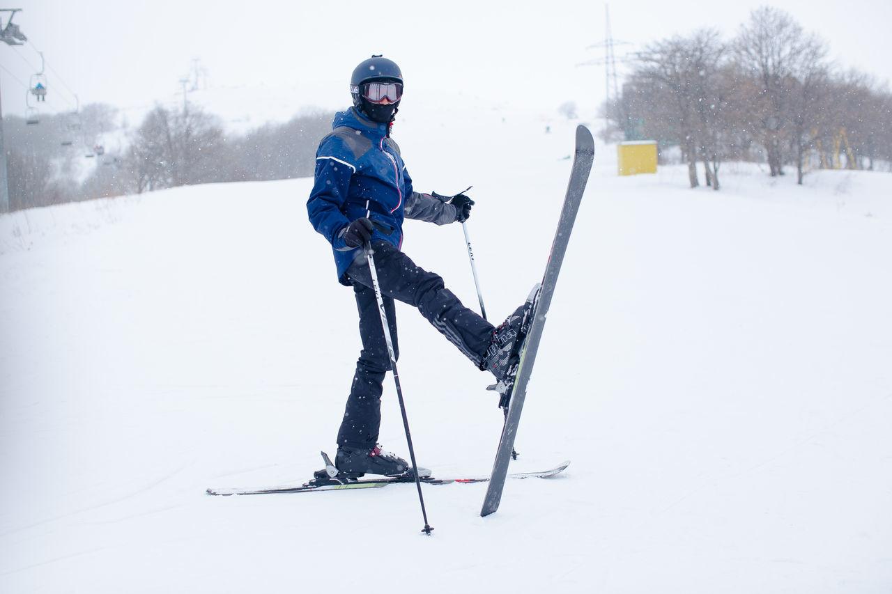 Cold Temperature Headwear Leisure Activity One Person Outdoors Ski Ski Goggles Ski Holiday Ski Pole Skiing Snow Sport Warm Clothing Winter Winter Sport Wintertime