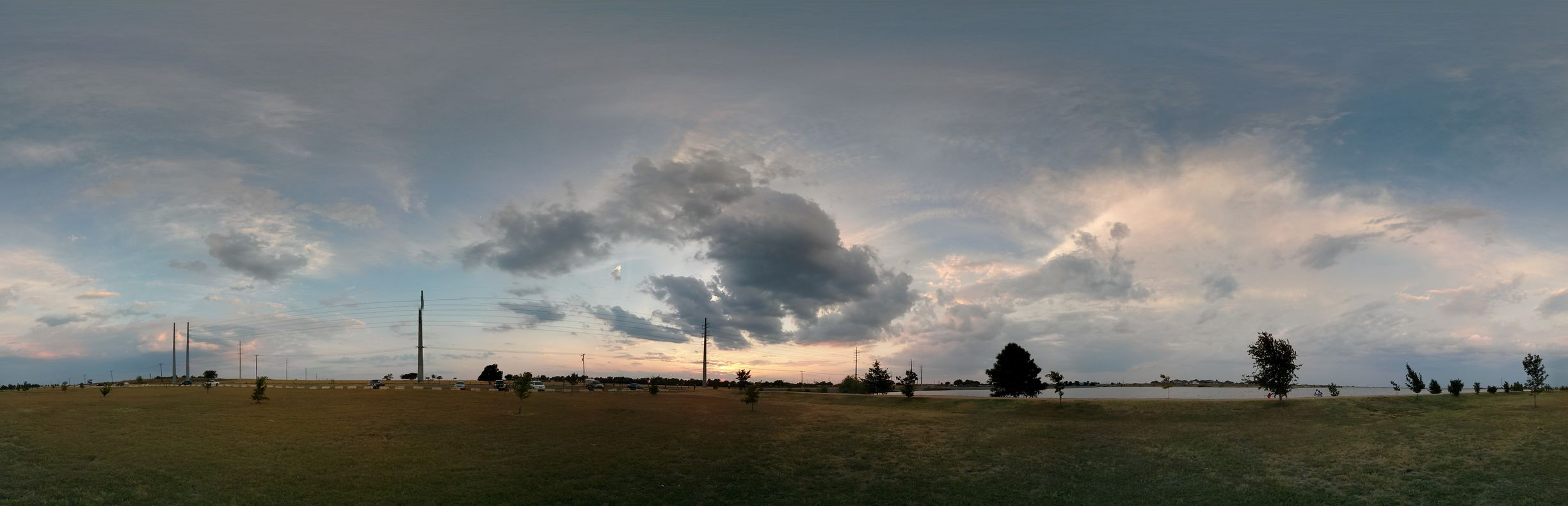 This is a 360° Photosphere that I took with my Nexus 4 while on a walk with my Church around Lake Pflugerville .