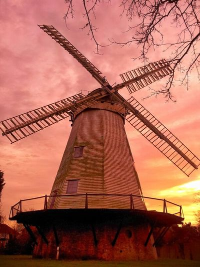 The wonderful old windmill at Upminster Windmill Of The Day Windmill Stormy Weather Wind Essex Windmills Mill 1803 Upminster