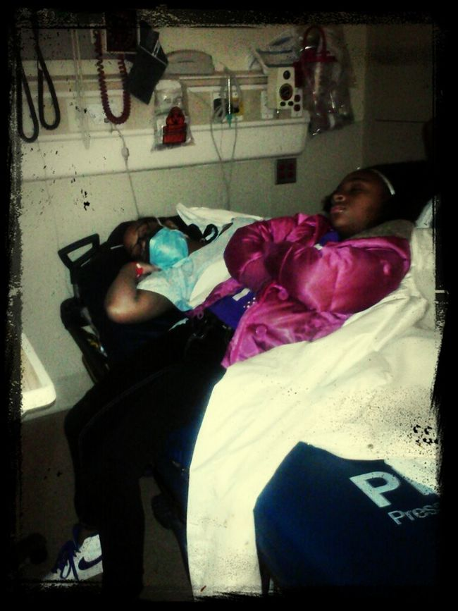 My Mom &'d Little Sister (Halani) . They Were Knocked Out ! Haha (:
