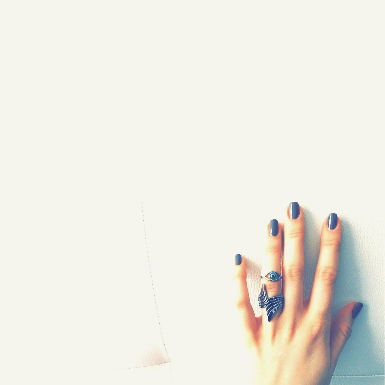 Cropped Image Of Woman Wearing Rings