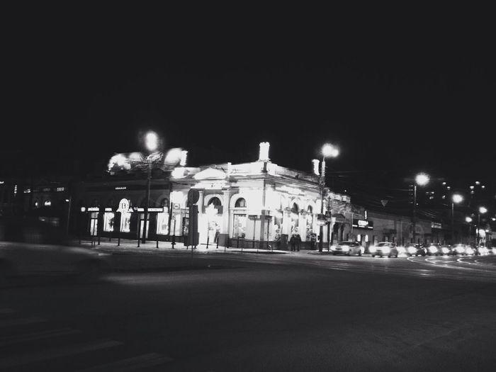 City Night Road Architecture