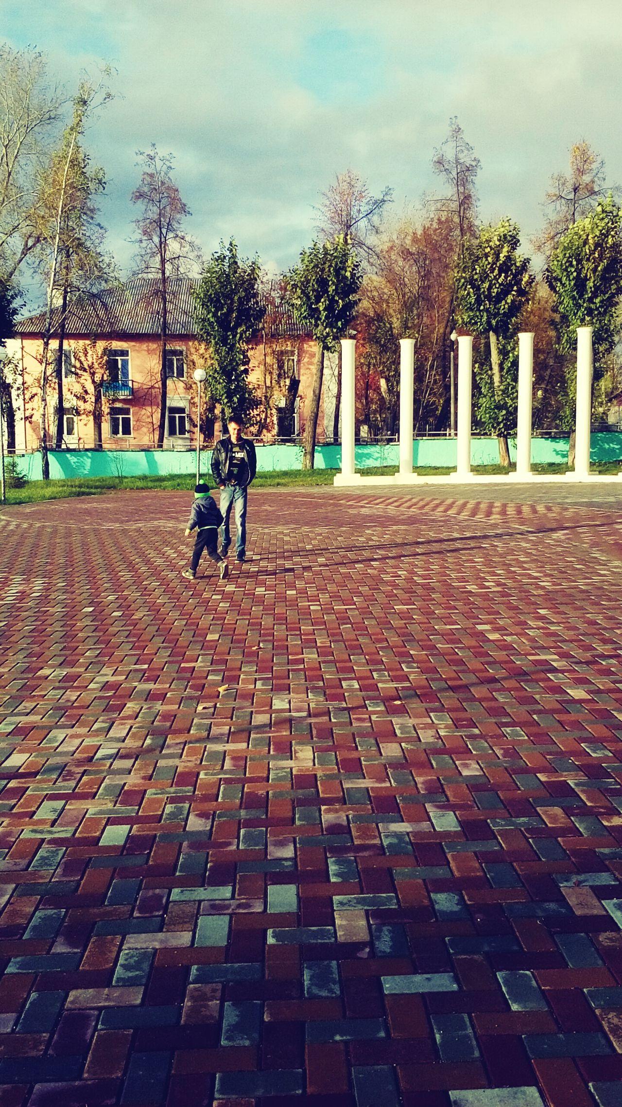 Day Sky площадь парклюбви ребенок осень