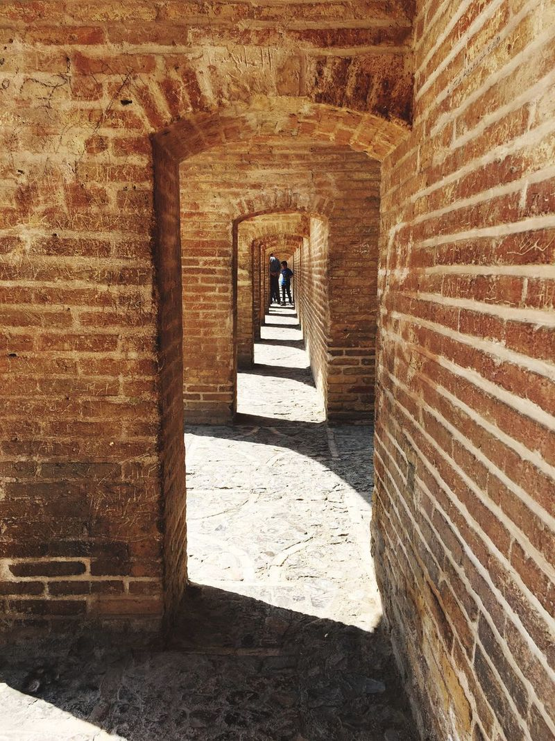 Architecture Sunlight Similarity Built Structure Bricks Brick Wall Brick Arch Arch The Way Forward Outdoor Photography Day , in Iran , Esfahan , Siosepol Siosepolbridge Si O Se Pol