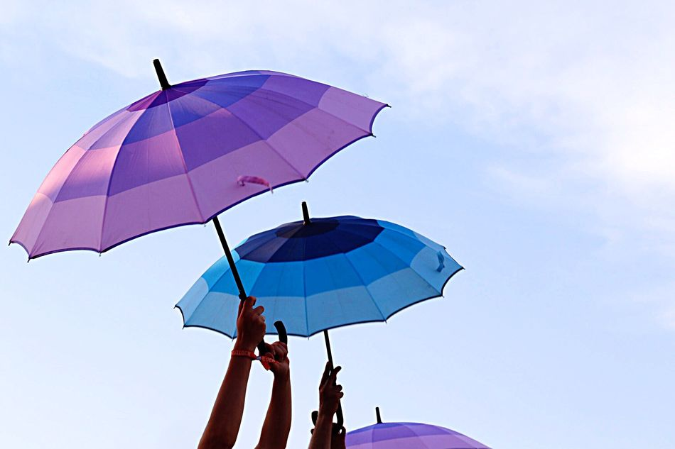 Beautiful stock photos of umbrella, Cloud - Sky, Cropped, Day, Hands Raised