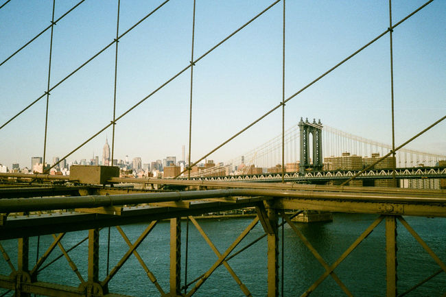 A view of Manhattan Bridge from Brooklyn Bridge Brooklyn Bridge / New York Brooklyn Olympus Trip 35 Coney Island / Brooklyn NY 35mm Film New York EyeEm Best Shots Eye4photography  NYC Photography Street Photography NYC