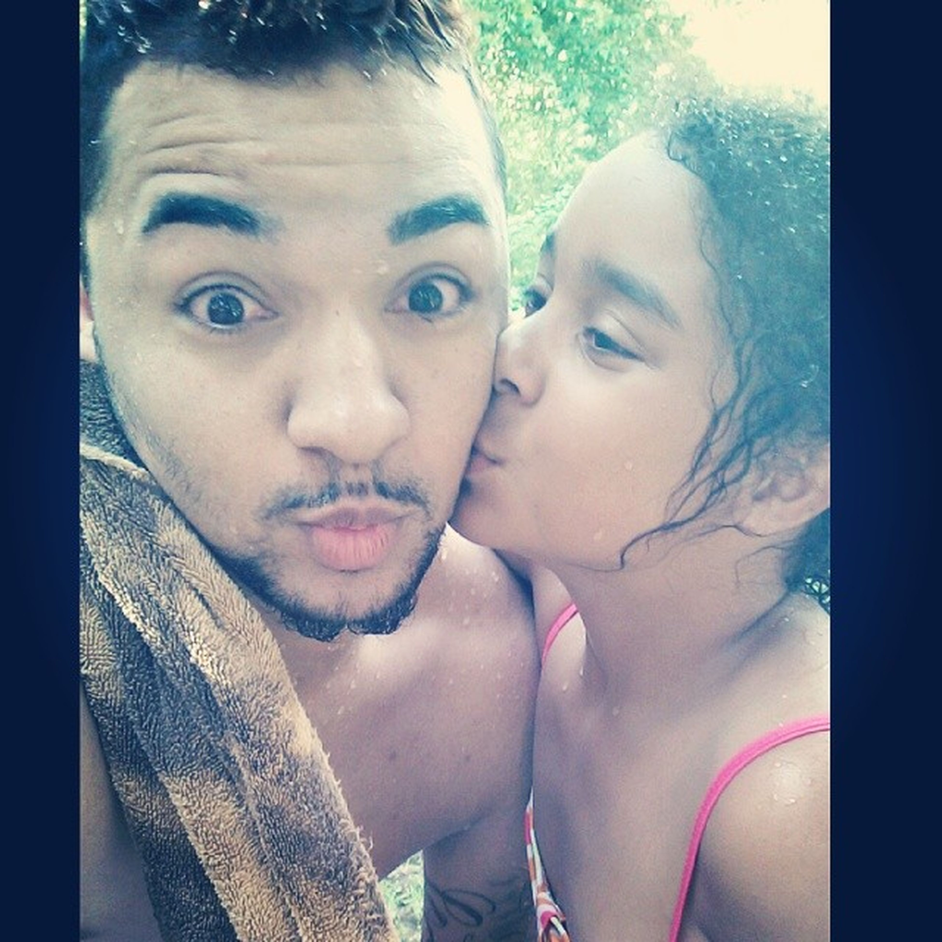 Me and sis at the pool :) Turndownforwhat LighskinLove EyesRed IGotAKiss :)