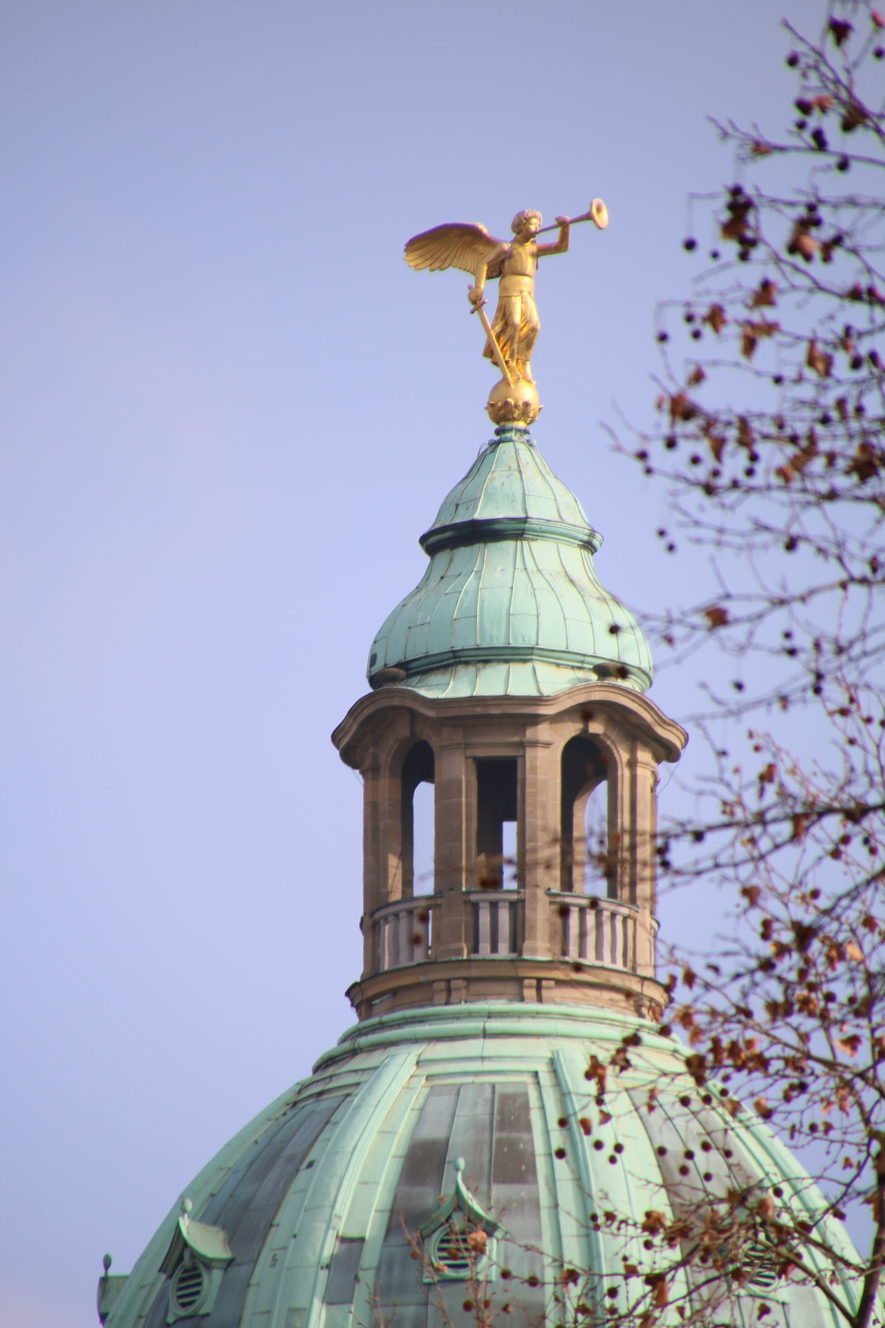 Architecture Dome No People Clear Sky Sky Gold Colored City Outdoors Gold Statue Cityscape Day Mannheim