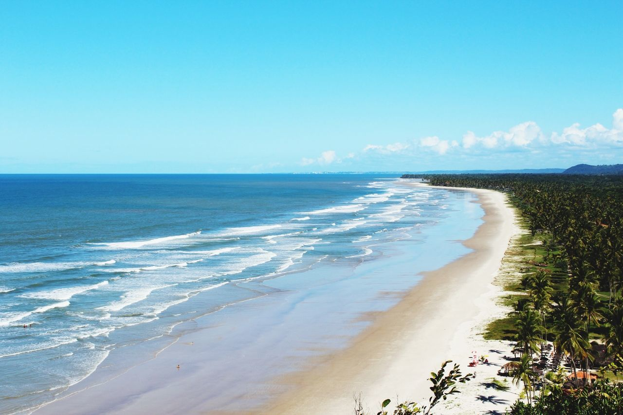 Beautiful stock photos of brazil, Beach, Beauty In Nature, Blue, Copy Space
