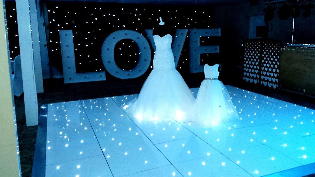 Wroxeter Hotel Wedding No People Lights Dance Floor Dresses