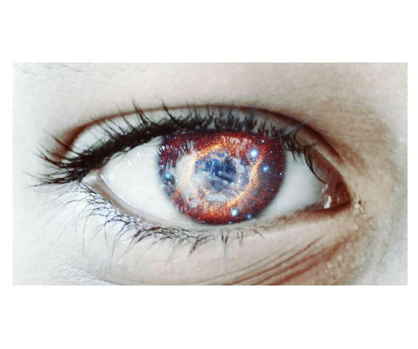 The Portraitist - 2017 EyeEm Awards Eye EyeEm Best Shots Eyeball Close-up Galaxy MotoClick Mobilephotography Portrait Editing Editography