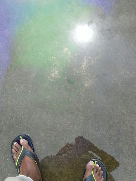 I saw the Sun Reflections on a wall of Water and I stood on it......
