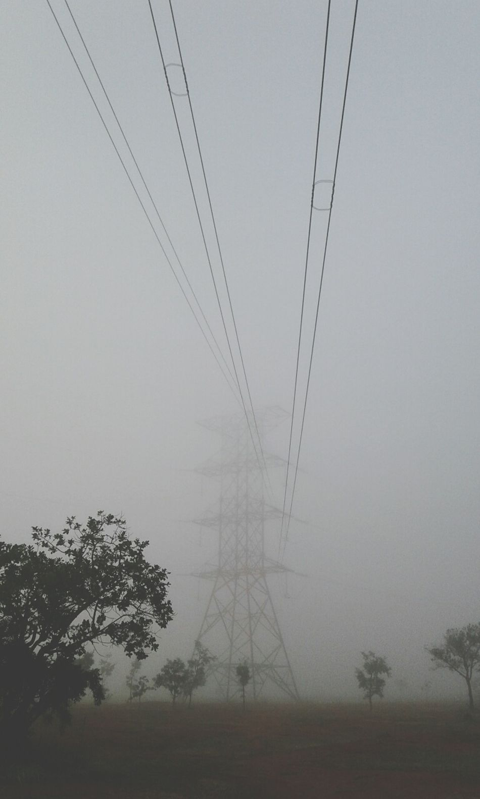 Environment Mist Myst Powerstation Electricity Tower Névoa Neblina Torre De Energia