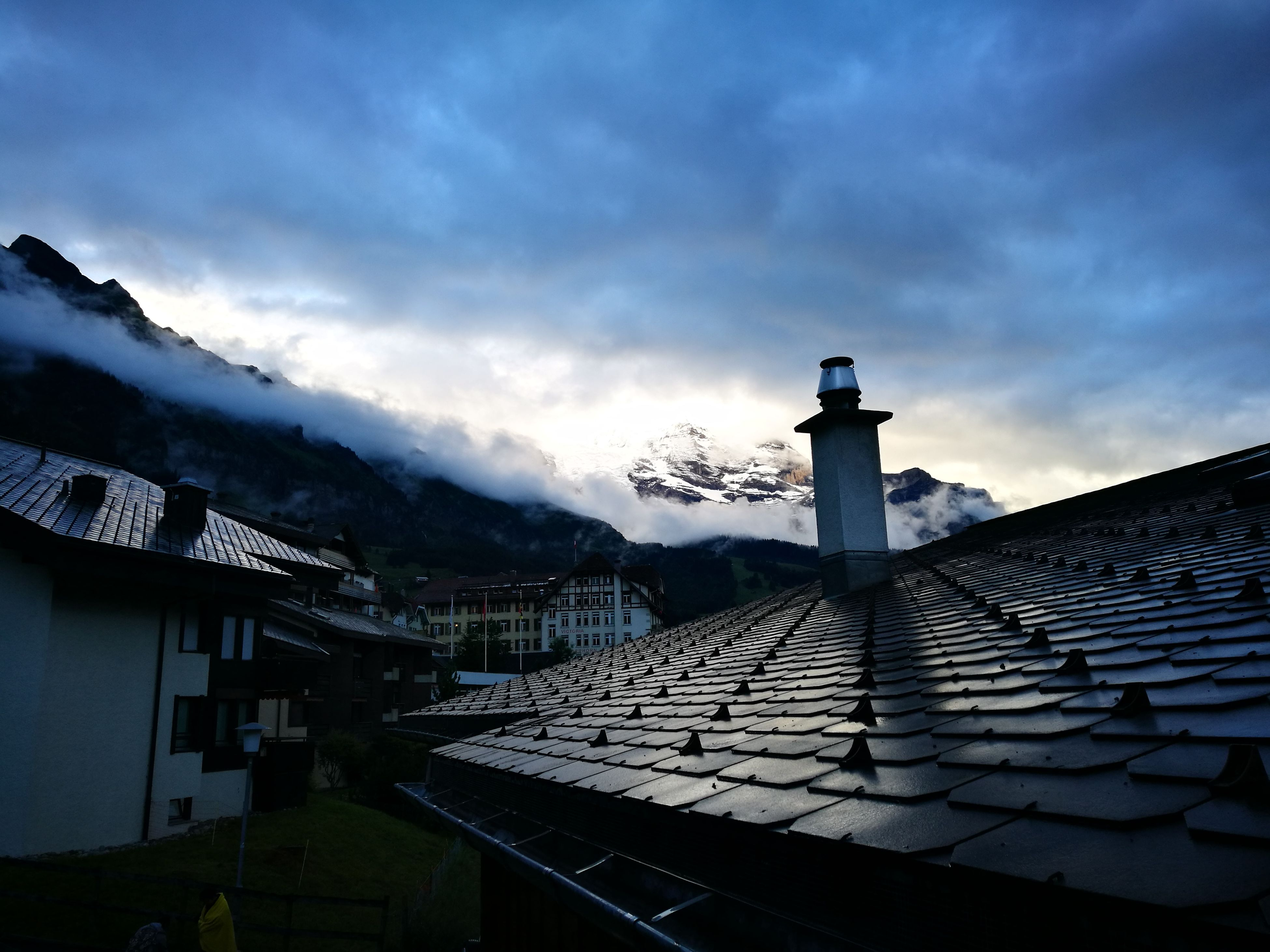 built structure, architecture, building exterior, roof, cloud - sky, no people, house, sky, outdoors, day, tiled roof, nature