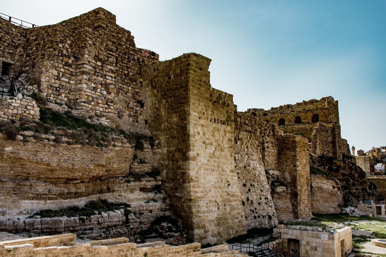 Karak Castle Ancient Civilization Architecture Day Fortification Historical Building History Nature Outdoors Sky Stronghold Tourism Travel Destinations Vacations