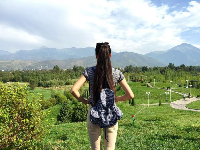 Beautiful nature🍃💕 Lifestyles Beauty In Nature Nature Mountain Mountain Range Rear View Person Scenics Sky