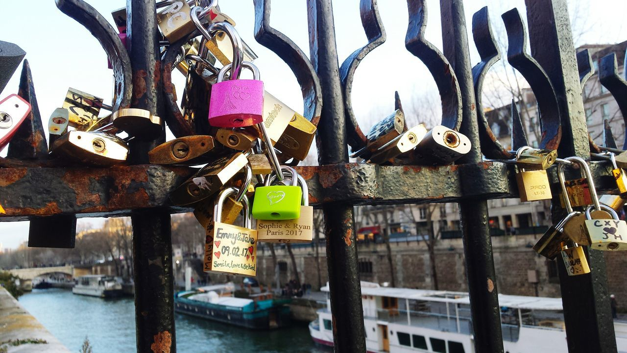 padlock, lock, love lock, hanging, security, love, hope, safety, protection, railing, hope - concept, metal, abundance, heart shape, bridge - man made structure, large group of objects, outdoors, day, variation, luck, no people, symbol, water, close-up, built structure, architecture
