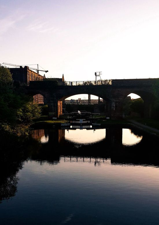 Neighborhood Map Leeds Liverpool Canal Liverpool England Connection Architecture Built Structure Reflection Transportation Water No People River Day Outdoors Bridge Sky Clear Sky Nature