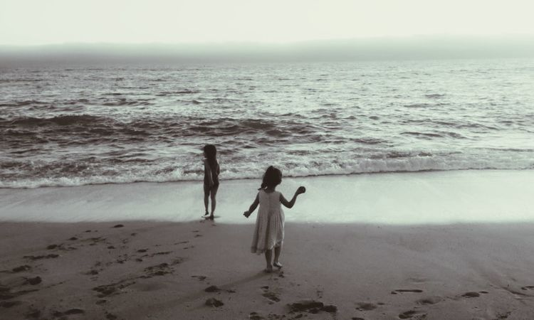 Blackandwhite Childhood Memories Sunset. California Coast California Dreaming Great Outdoors With Adobe People Of The Oceans Girl Power Monochrome Photography