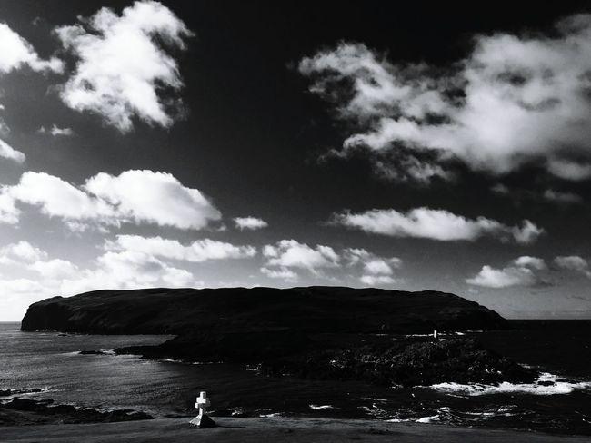 Calf Of Man Isle Of Man Blackandwhite Black & White Sea