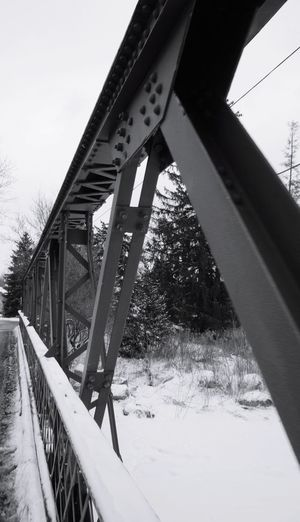 iron bridge Bridge - Man Made Structure Built Structure Winter Outdoors No People Day Cold Temperature Snow Sky