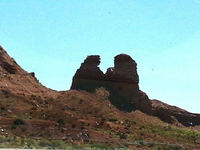 The Lovers Rock Formationin Utah Blue Sky Desert Beauty Desert Landscape Red Rocks