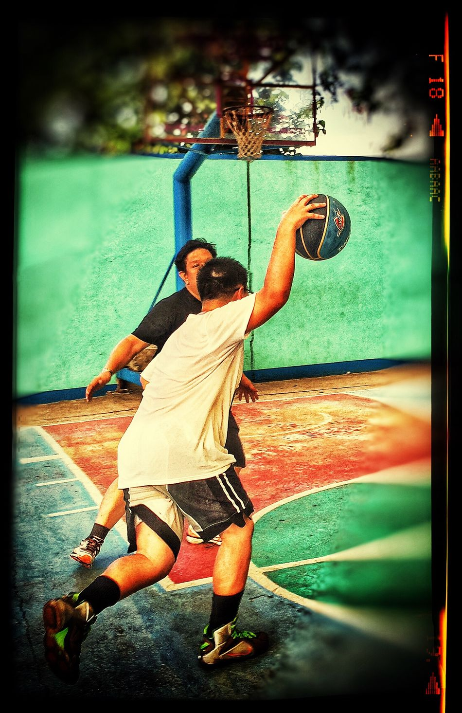 Iphonephotography Father & Son Streetbasketball
