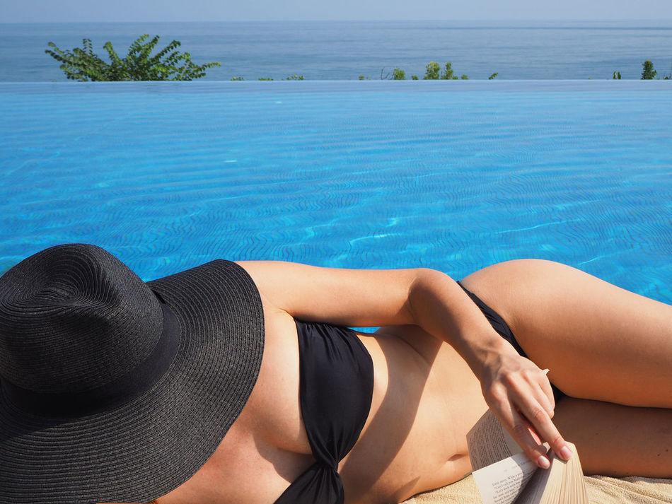 Beautiful stock photos of bikini, 35-39 Years, Bikini, Black Color, Book