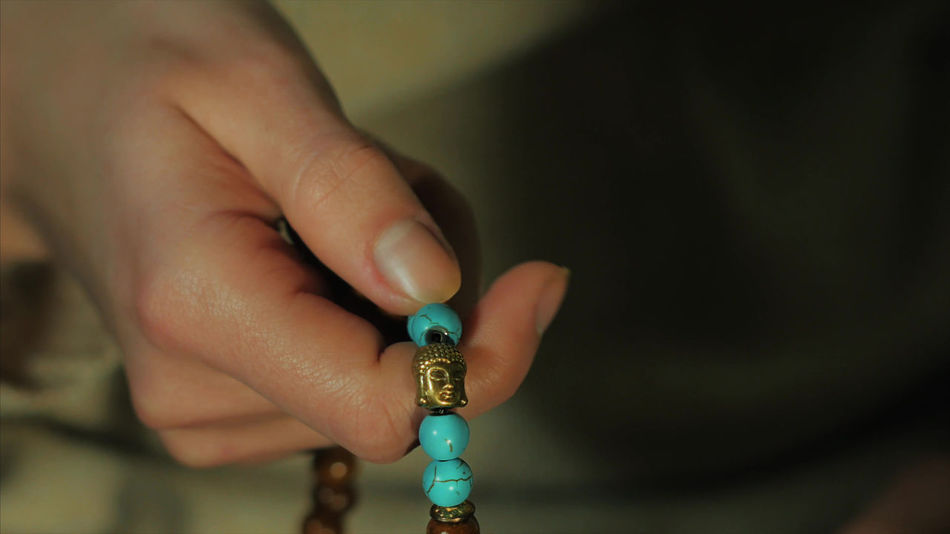 Adult Beads Buddha Buddhism Close-up Day Finger Ring Hand Holding Human Body Part Human Finger Human Hand Indoors  Japa Mala Mala Malaysia Mantra Meditation One Person People Real People Rosary Water Woman Yoga