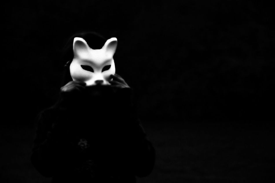 Night Portrait Nikon Creative Light And Shadow Blackandwhite Mask_collection Dark Art Italy