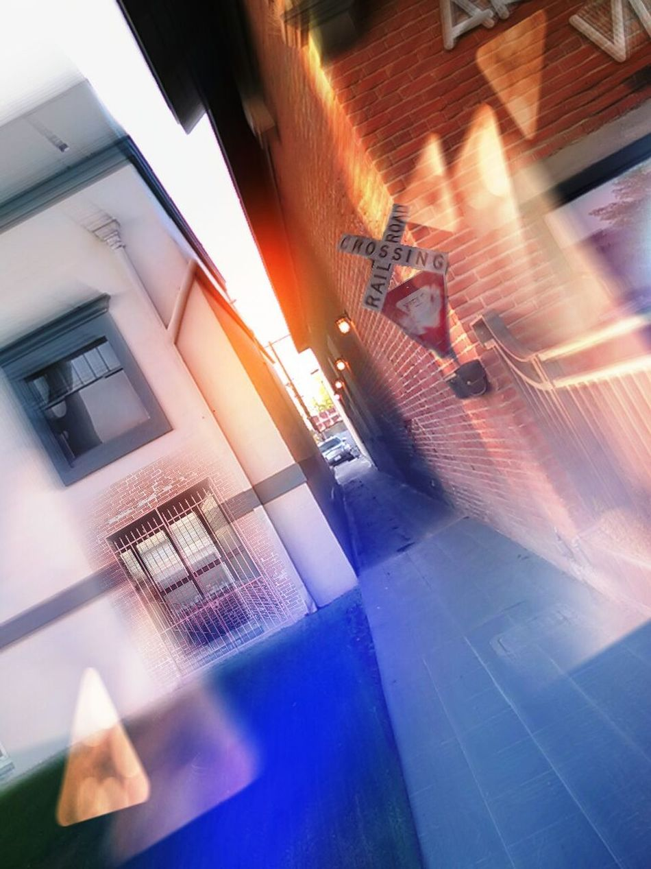 Showcase April Blue Wave Street Photography Motion Blur In The Alley Railroad Crossing Bokeh Photography Street View Getty & Eyeem Running After Time