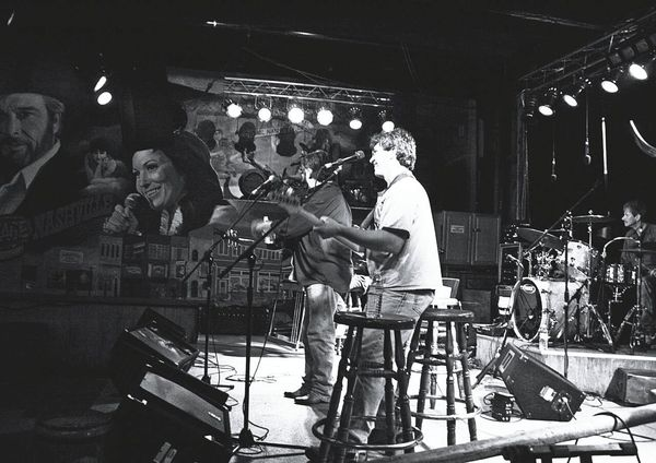 Musician Cafe Musical Performance Travel Photography Nashville Black & White Monochrome