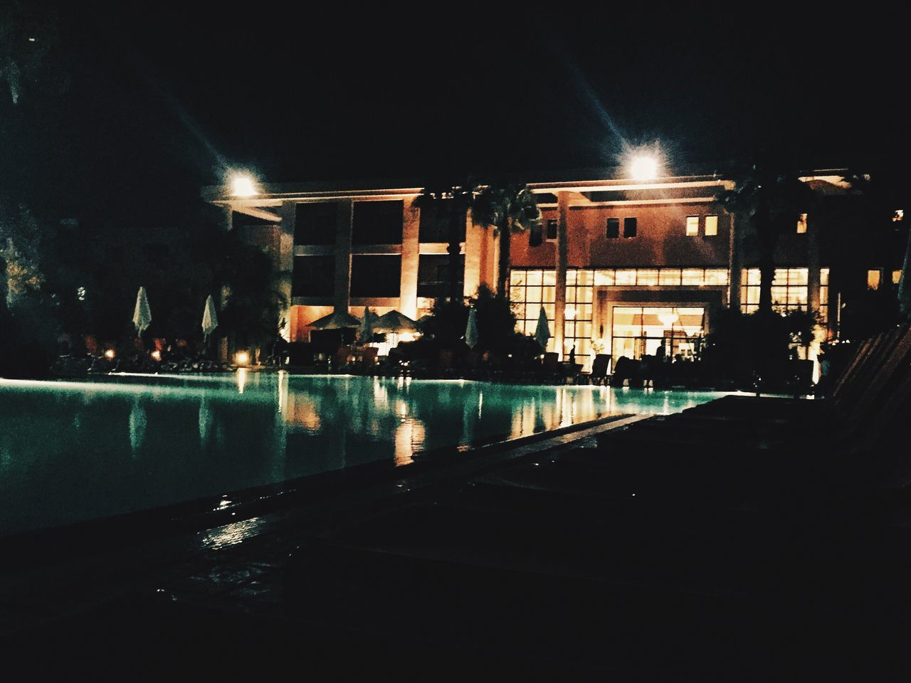 A night in Marrakech First Eyeem Photo Hotel Night Pool Side Marrakech Iphonephotography