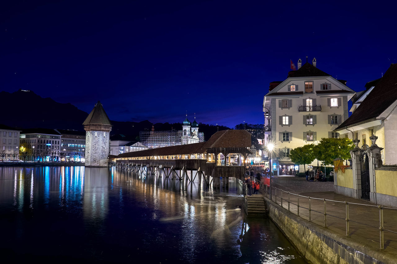 Beautiful Colorful Fujifilm_xseries Lucerne Night Lights Swiss Swiss Luzern Switzerland