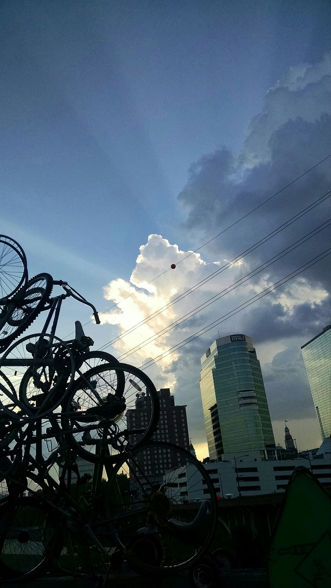 There is so much to see if we just look Reflection My Cloud Obsession☁️ Downtown Tennessee Boomsday Buildings Bikes Silhouette Capture The Moment I Love My City