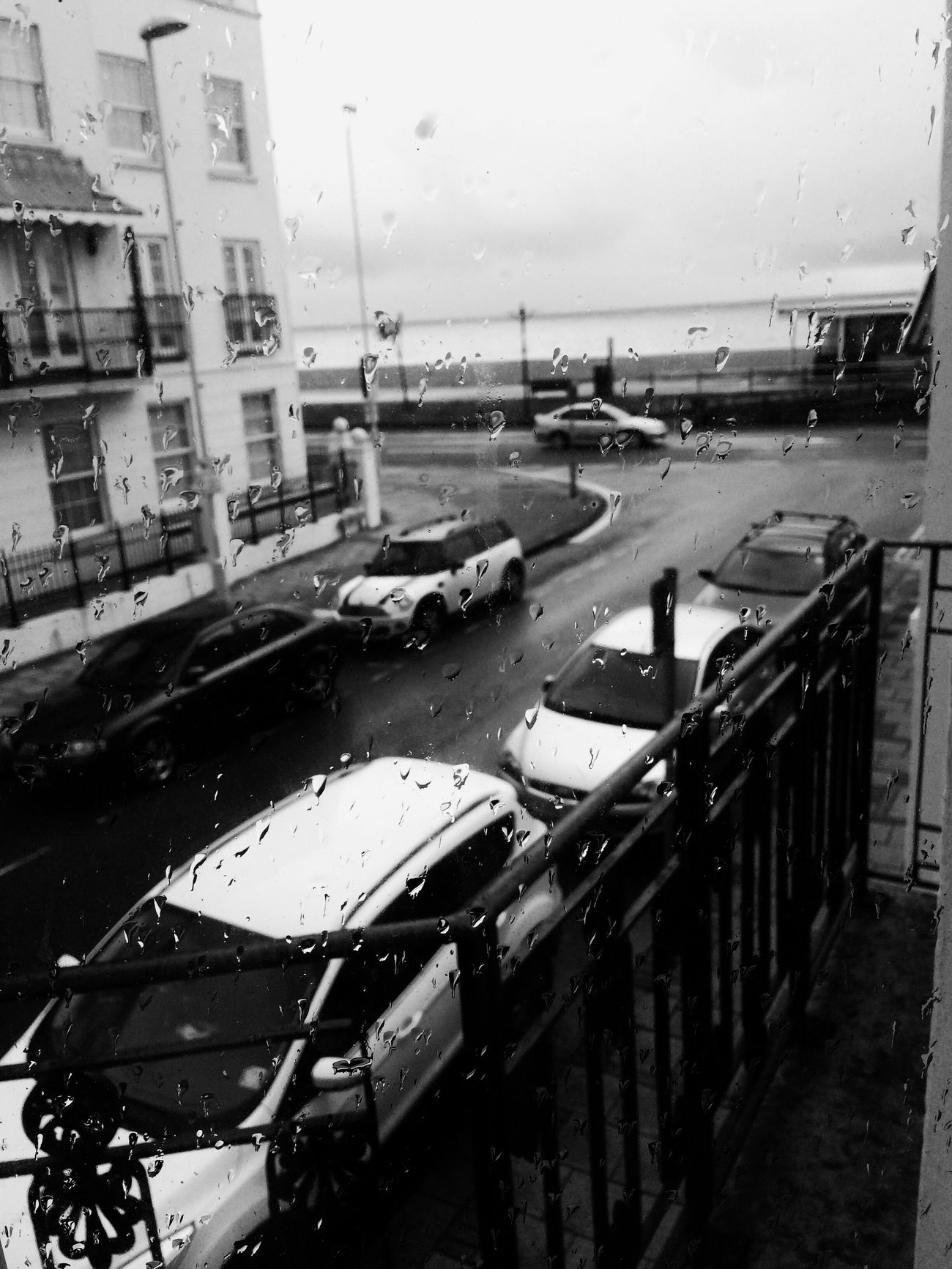 Dull day Blackandwhite Rain Hello World Monochrome IPhoneography