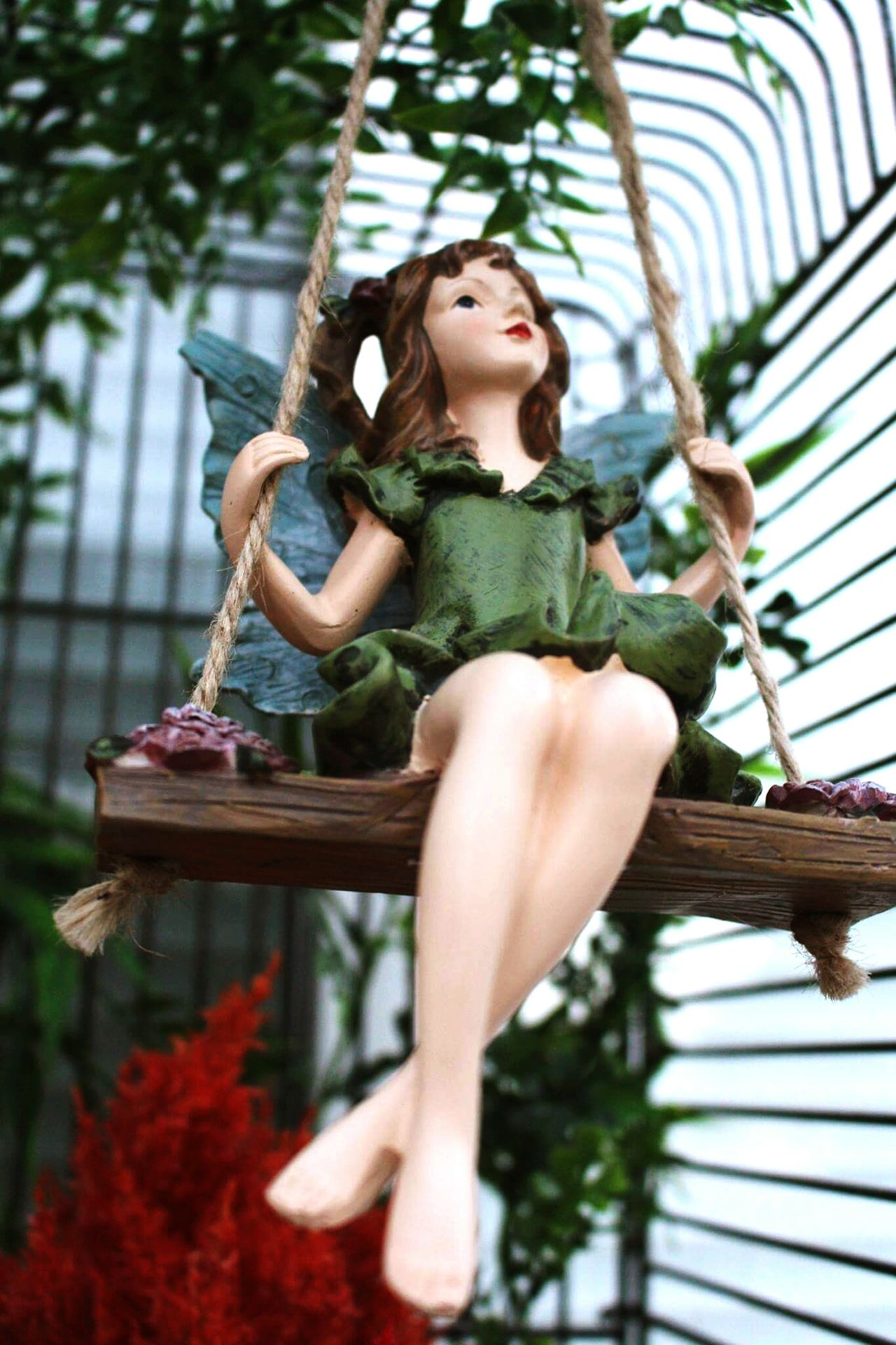Leisure Activity Casual Clothing Lifestyles Low Angle View Person Three Quarter Length Young Women Leaf Full Length Long Hair Enjoyment Young Adult Focus On Foreground Holding Fun Day Leaves Fairy Fairyforest Fairytale  Fairy Garden