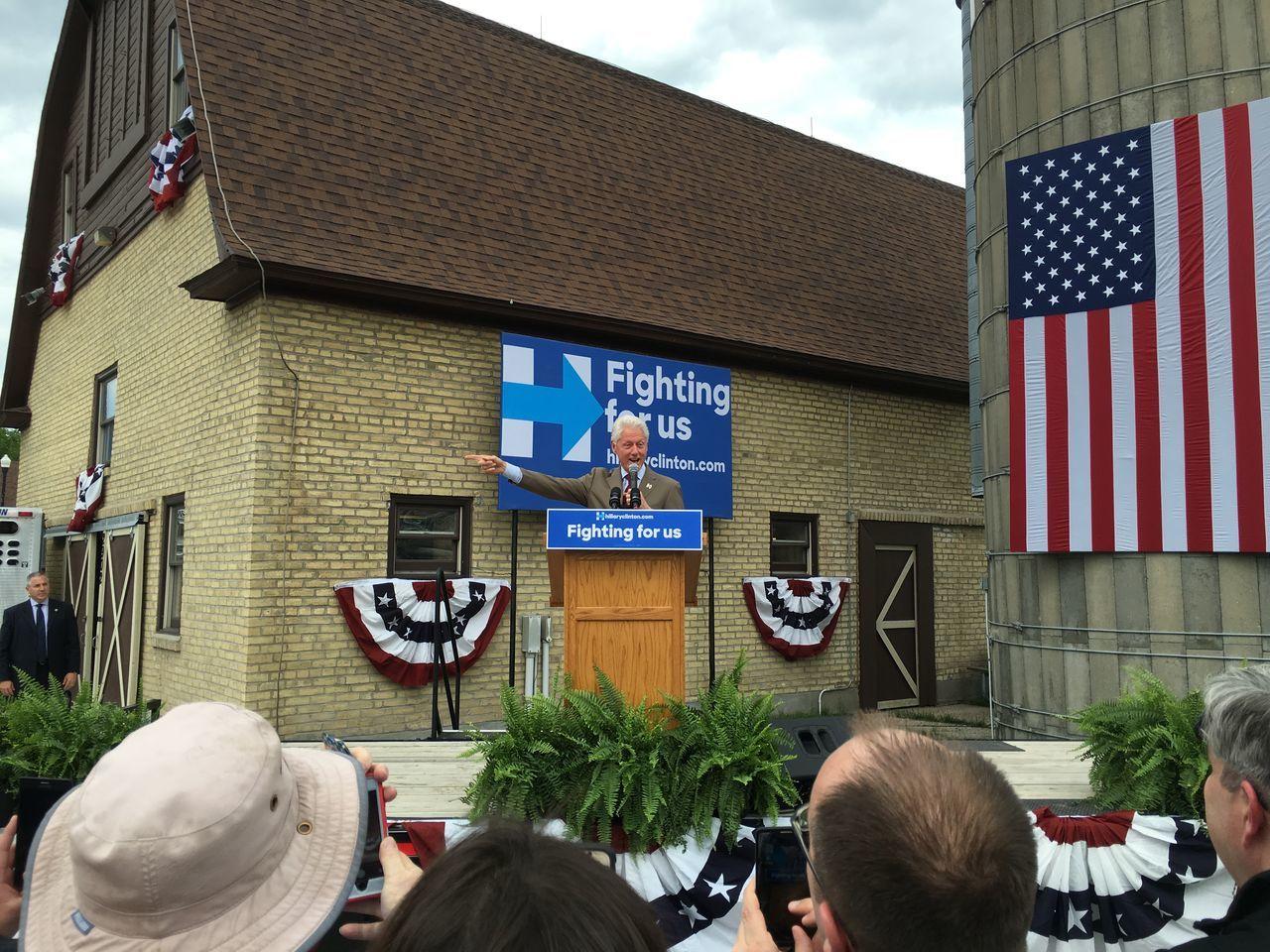 May 20, 2016 / Rheault Farm Bill Clinton Day Election Fargo North Dakota Outdoors President Presidential Campaign 2016 Presidential Election 2016 Rheault Farm Sky United States
