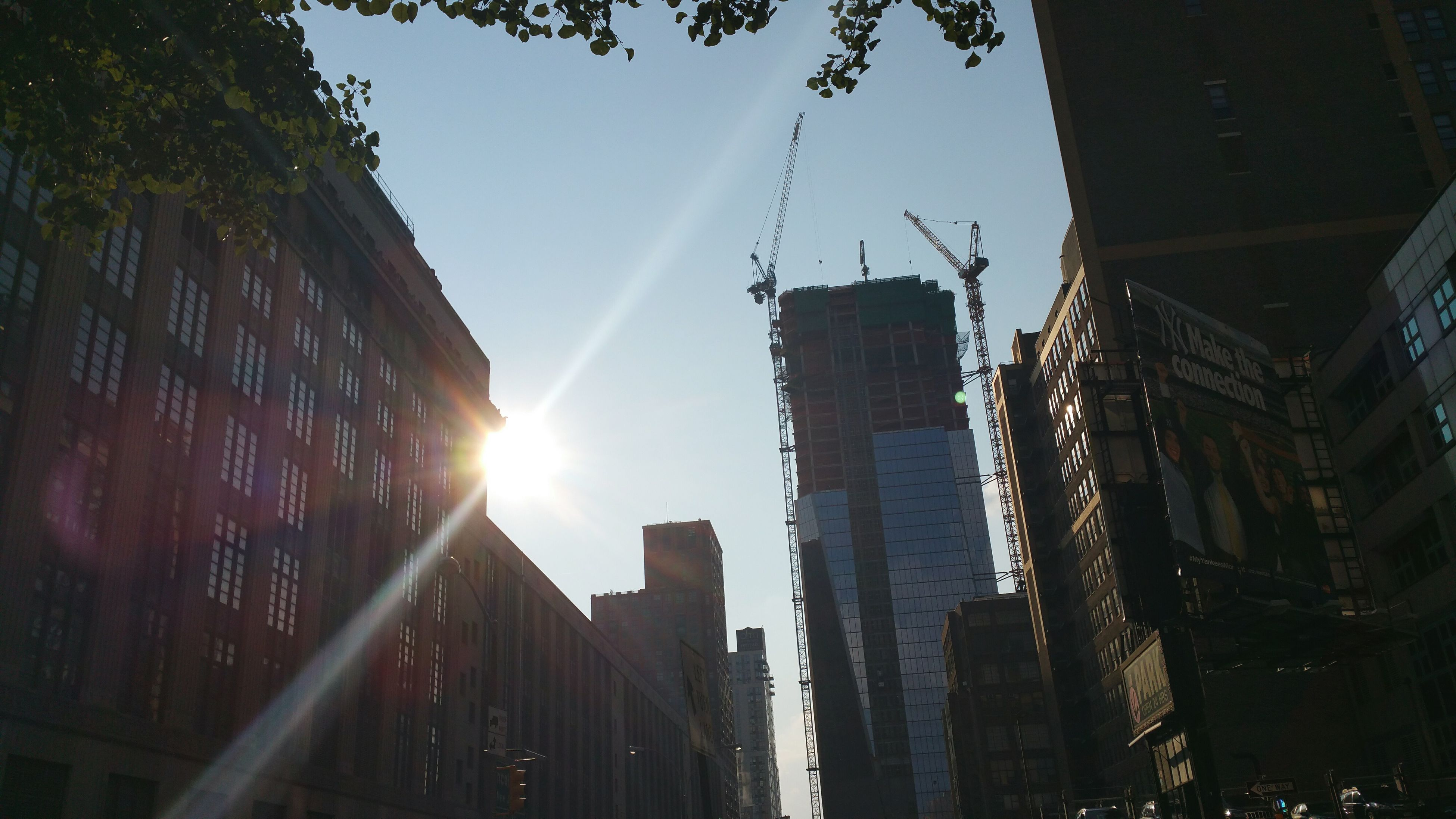 Somewhere in chelsea. Chelsea Newyork NYC Constuction Architecture Silhouette Midday Sunlight Midday Haze Sunpokingout