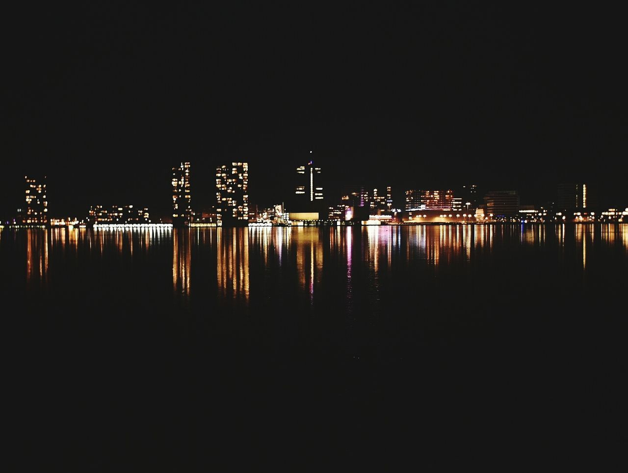 Reflection Illuminated Water Architecture Night Sky Lake No People Outdoors City Cityscape Nature First Eyeem Photo